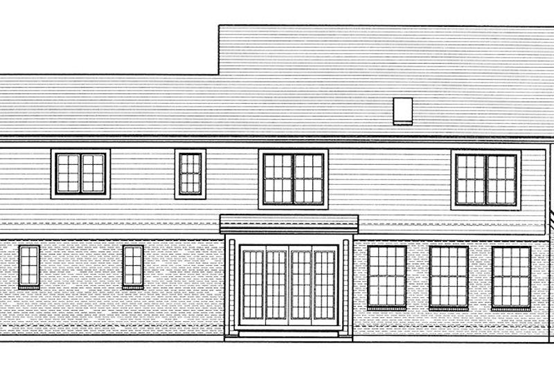 Colonial Exterior - Rear Elevation Plan #46-860 - Houseplans.com