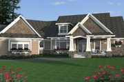 Craftsman Style House Plan - 5 Beds 4.5 Baths 4773 Sq/Ft Plan #51-334 Exterior - Other Elevation