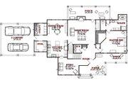 Farmhouse Style House Plan - 4 Beds 2 Baths 2766 Sq/Ft Plan #63-362 Floor Plan - Main Floor Plan