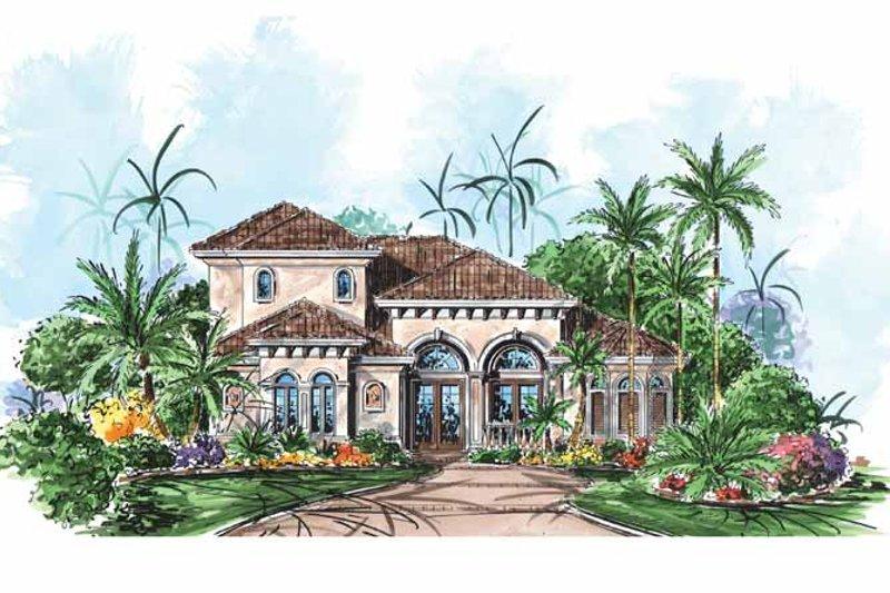 Dream House Plan - Mediterranean Exterior - Front Elevation Plan #1017-147