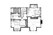 Cabin Style House Plan - 3 Beds 2 Baths 1825 Sq/Ft Plan #942-33 Floor Plan - Upper Floor Plan
