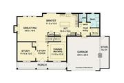 Colonial Style House Plan - 4 Beds 2.5 Baths 2593 Sq/Ft Plan #1010-37 Floor Plan - Main Floor Plan