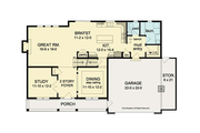 Colonial Style House Plan - 4 Beds 2.5 Baths 2593 Sq/Ft Plan #1010-37 Floor Plan - Main Floor