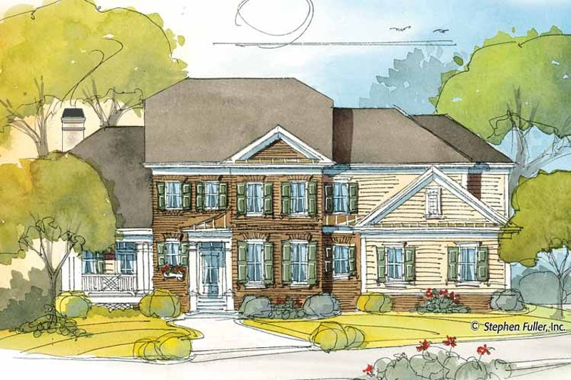 Colonial Exterior - Front Elevation Plan #429-394 - Houseplans.com