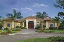 Home Plan - Mediterranean Exterior - Front Elevation Plan #930-415