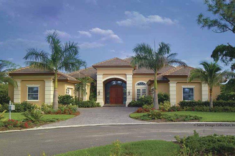House Plan Design - Mediterranean Exterior - Front Elevation Plan #930-415