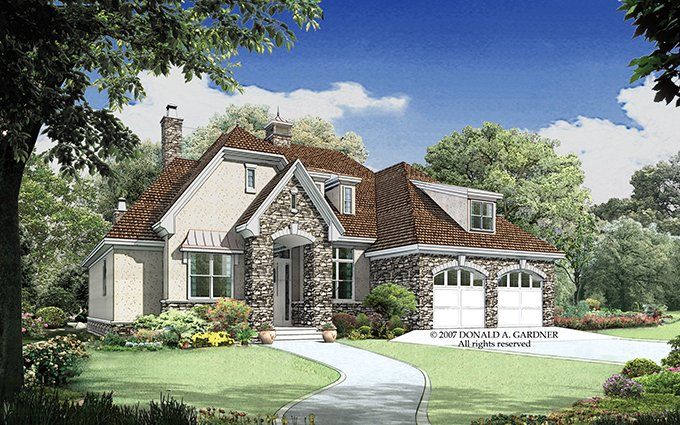 Architectural House Design - European Exterior - Front Elevation Plan #929-913