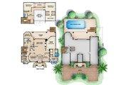 Beach Style House Plan - 3 Beds 2.5 Baths 5664 Sq/Ft Plan #27-522 Floor Plan - Main Floor Plan
