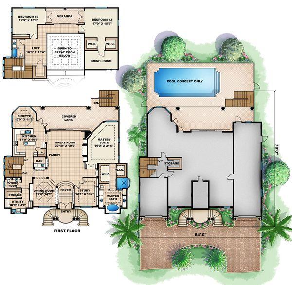 Beach Floor Plan - Main Floor Plan Plan #27-522