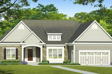 Ranch Exterior - Front Elevation Plan #1010-187