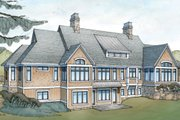 Country Style House Plan - 4 Beds 4.5 Baths 5504 Sq/Ft Plan #928-264 Exterior - Rear Elevation