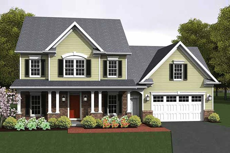Home Plan - Colonial Exterior - Front Elevation Plan #1010-14