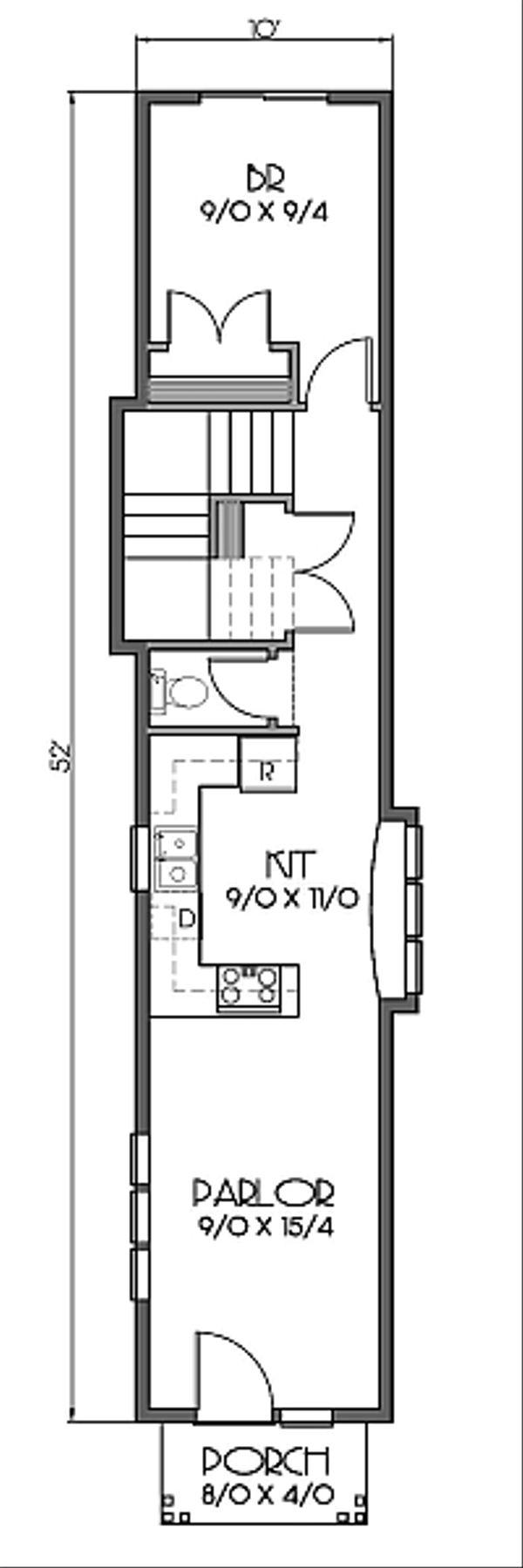 Bungalow Floor Plan - Main Floor Plan #423-46