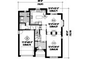 European Style House Plan - 4 Beds 2 Baths 2268 Sq/Ft Plan #25-4568 Floor Plan - Main Floor Plan