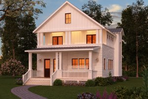 Dream House Plan - Craftsman Exterior - Front Elevation Plan #888-10