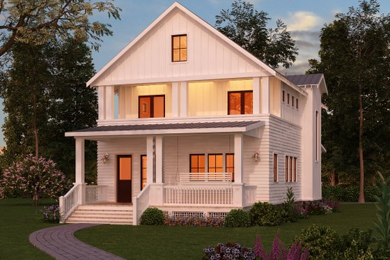 Craftsman Exterior - Front Elevation Plan #888-10
