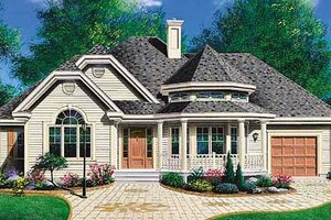 Country Exterior - Front Elevation Plan #23-1011