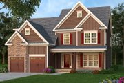 Traditional Style House Plan - 4 Beds 2.5 Baths 2742 Sq/Ft Plan #419-308 Exterior - Front Elevation