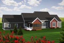 Dream House Plan - Ranch Exterior - Rear Elevation Plan #70-1140