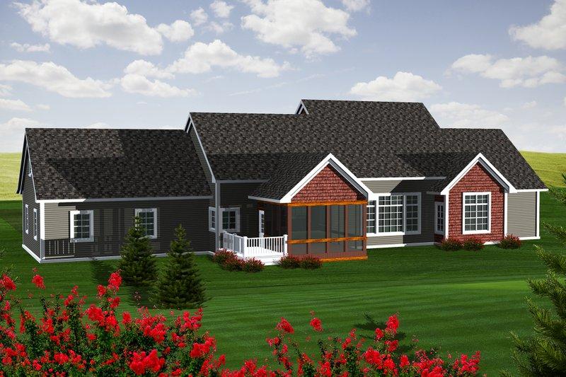 Ranch Exterior - Rear Elevation Plan #70-1140 - Houseplans.com