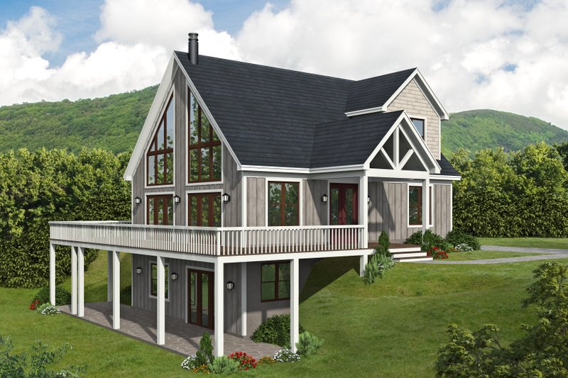 Traditional Style House Plan - 3 Beds 3 Baths 1736 Sq/Ft Plan #932-428