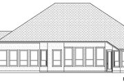 European Style House Plan - 3 Beds 3 Baths 3087 Sq/Ft Plan #84-597 Exterior - Rear Elevation