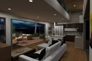 Modern Style House Plan - 2 Beds 2 Baths 860 Sq/Ft Plan #484-5 Interior - Family Room