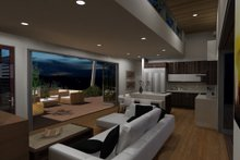 Architectural House Design - Modern Interior - Family Room Plan #484-5