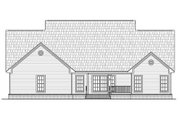 Country Style House Plan - 4 Beds 3.5 Baths 2402 Sq/Ft Plan #21-307 Exterior - Rear Elevation