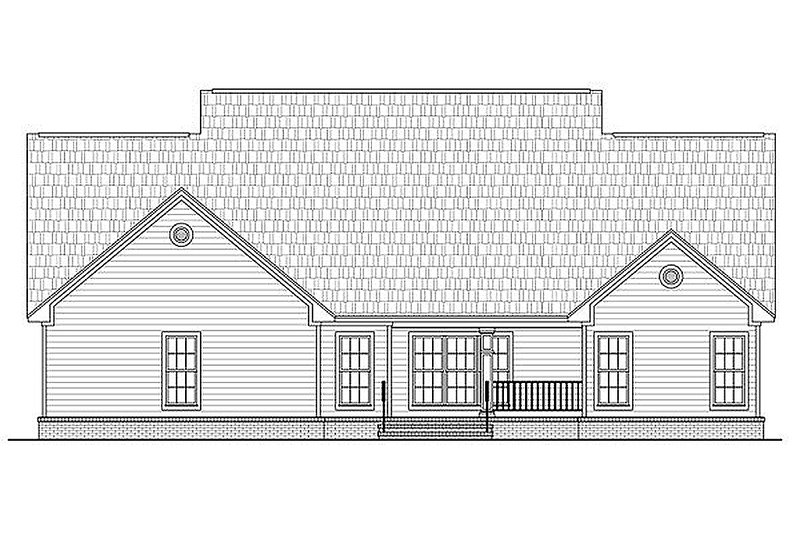 Country Exterior - Rear Elevation Plan #21-307 - Houseplans.com