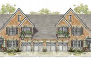 European Style House Plan - 3 Beds 3 Baths 4102 Sq/Ft Plan #20-1277 Exterior - Front Elevation