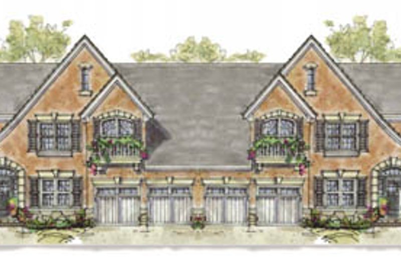 European Exterior - Front Elevation Plan #20-1277