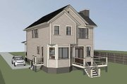 Craftsman Style House Plan - 4 Beds 3 Baths 1646 Sq/Ft Plan #79-304 Exterior - Rear Elevation