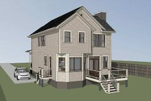 Craftsman Exterior - Rear Elevation Plan #79-304