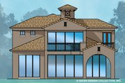 Mediterranean Style House Plan - 4 Beds 4.5 Baths 3882 Sq/Ft Plan #930-489 Exterior - Rear Elevation
