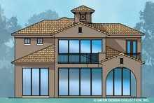 House Plan Design - Mediterranean Exterior - Rear Elevation Plan #930-489
