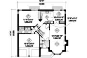 European Style House Plan - 3 Beds 2 Baths 2634 Sq/Ft Plan #25-4857 Floor Plan - Main Floor Plan