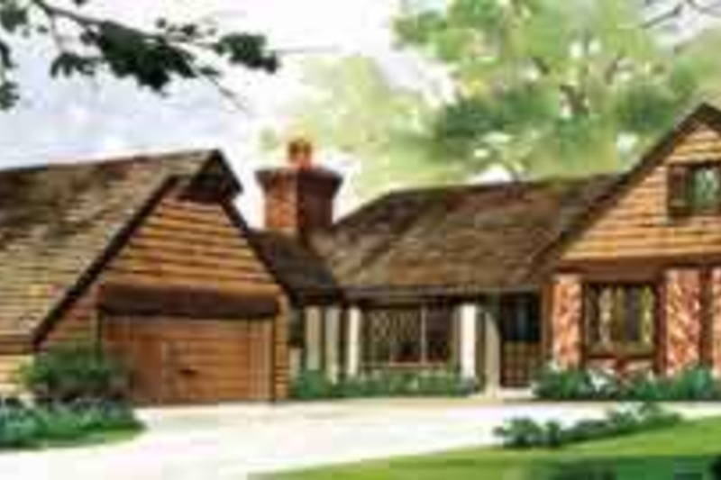 Traditional Exterior - Front Elevation Plan #72-443 - Houseplans.com