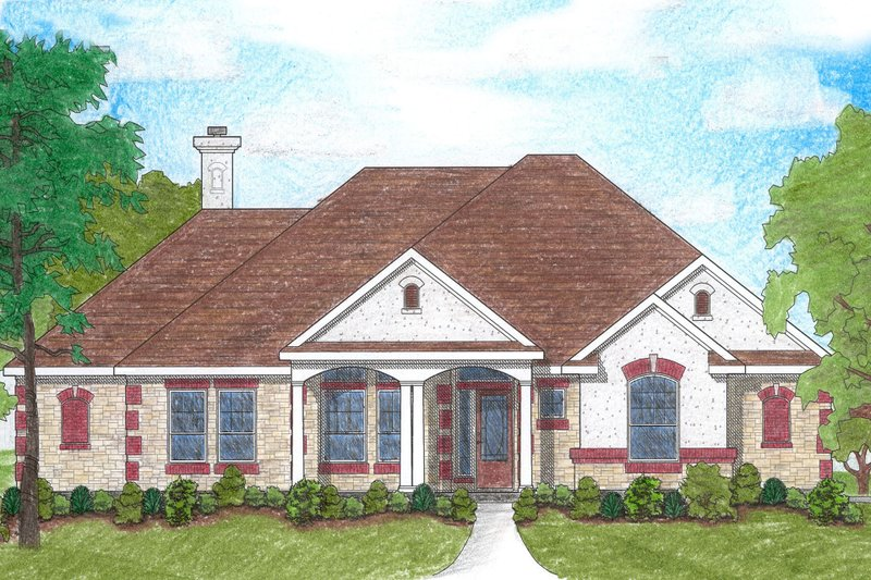Traditional Exterior - Front Elevation Plan #80-118