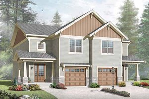 Architectural House Design - Traditional Exterior - Front Elevation Plan #23-2515