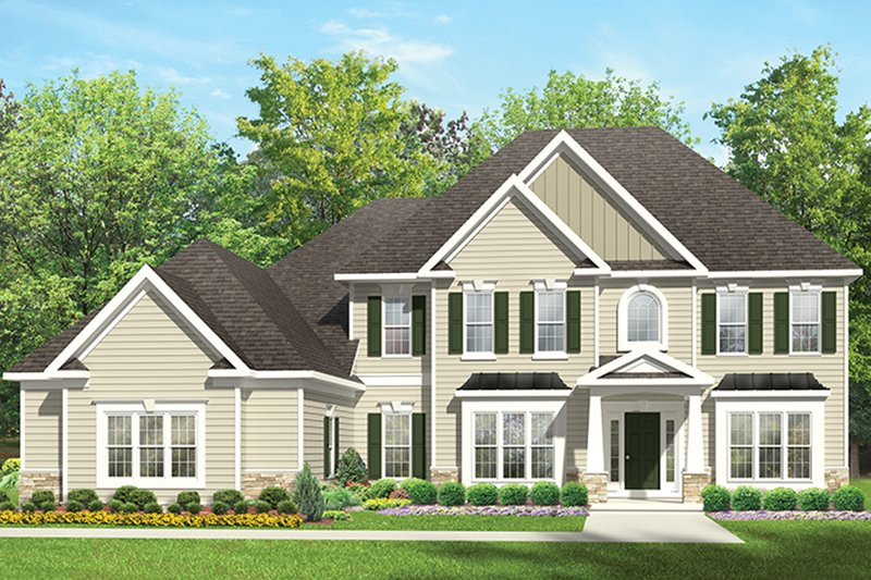 Architectural House Design - Colonial Exterior - Front Elevation Plan #1010-168