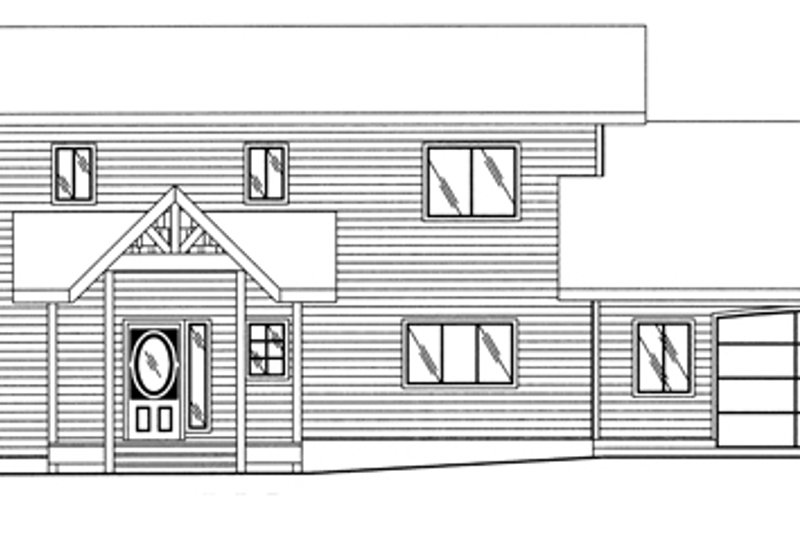 European Exterior - Front Elevation Plan #117-817