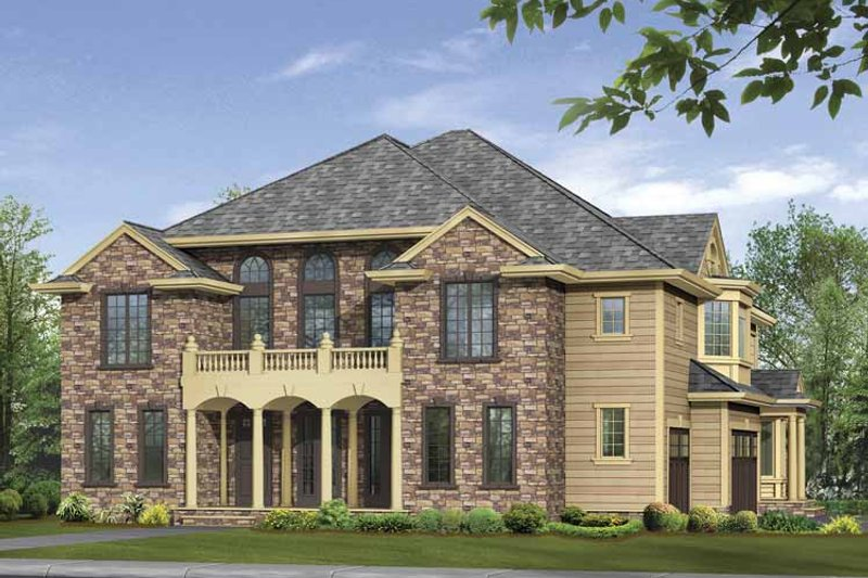 Classical Exterior - Front Elevation Plan #132-499 - Houseplans.com