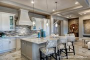Mediterranean Style House Plan - 3 Beds 3 Baths 3648 Sq/Ft Plan #930-449 Interior - Kitchen