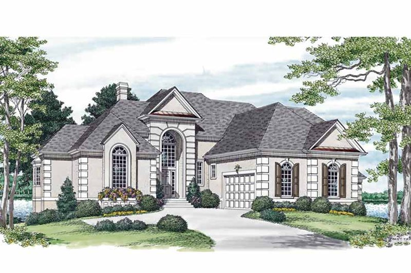 Traditional Exterior - Front Elevation Plan #453-565 - Houseplans.com