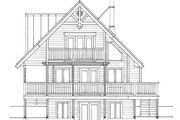 Cabin Style House Plan - 3 Beds 2 Baths 1370 Sq/Ft Plan #118-167 Exterior - Rear Elevation