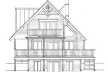Cabin Exterior - Rear Elevation Plan #118-167