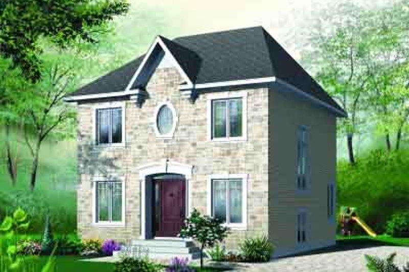 European Exterior - Front Elevation Plan #23-548 - Houseplans.com