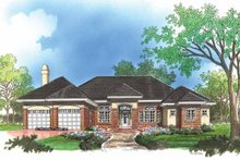 Architectural House Design - Mediterranean Exterior - Front Elevation Plan #929-298