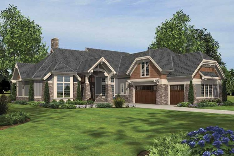Craftsman Exterior - Front Elevation Plan #48-879